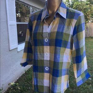 Foxcroft 3/4 sleeve blouse Size 10P